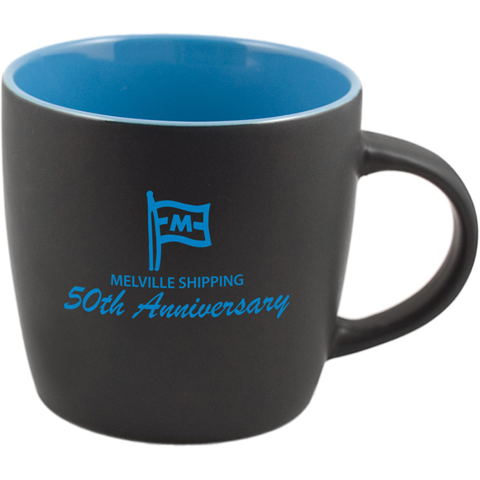 Poke Mug Matte Black Out Sky Blue In